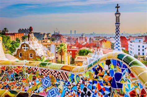Painting Houses by Buy Your Skiptheline Tickets For Park Guell In Barcelona