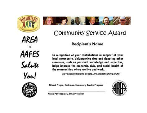 Community Service Award Community Service Certificate Template Free