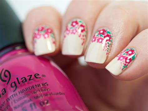 tutorial nail art flower easy floral nail art tutorial