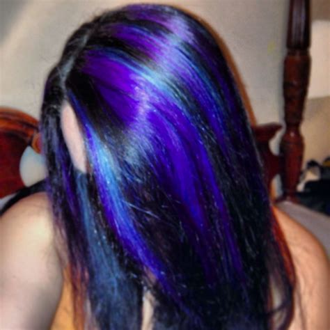 hairstyles with teal highlights my purple blue teal highlights blues and greens