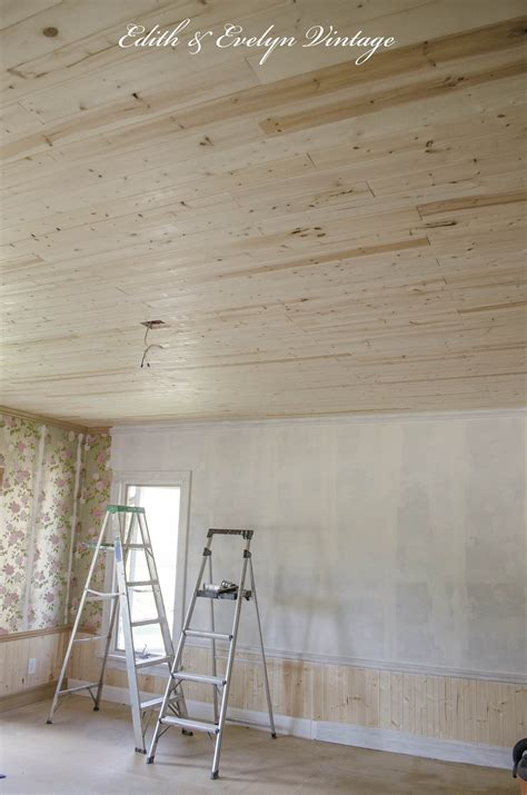 How To Cover Popcorn Ceiling With Wood by How To Plank A Popcorn Ceiling