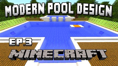how to build a pool house minecraft tutorial how to build a modern swimming pool