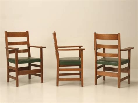 Arts And Crafts Dining Room Furniture Arts And Craft Dining Table And Chairs In Original Condition For Sale At 1stdibs