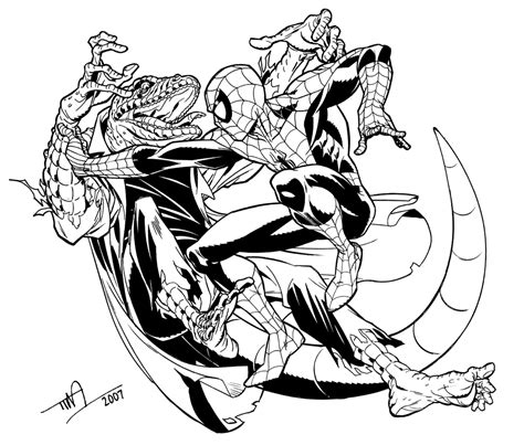 lizard spiderman coloring pages lizard vs spider man by timlevins on deviantart