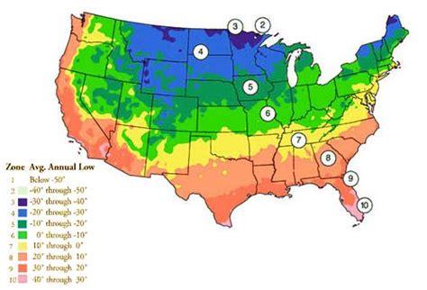 planting zone map usa planting zones gardens