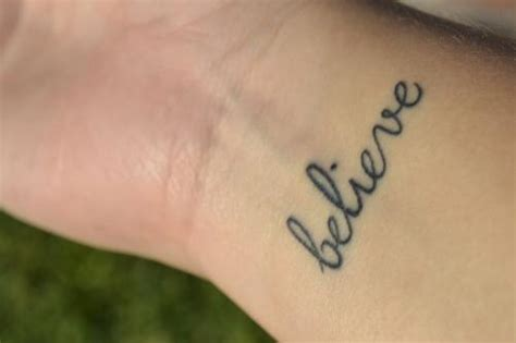 believe wrist tattoo 1000 ideas about believe tattoos on wrist