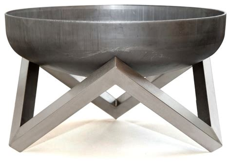 contemporary firepits steel bowl yanartas small contemporary
