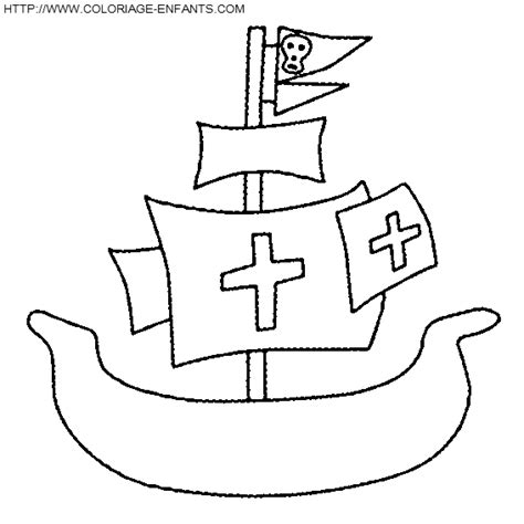 dessin bateau simple dessin facile bateau pirate