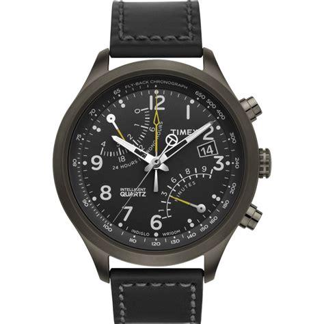 timex quartz timex intelligent quartz t flyback chronograph black the