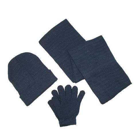 mens knit solid hat gloves and scarf winter set by ctm