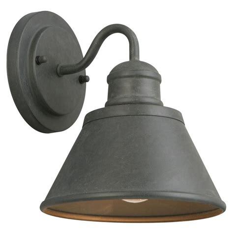 home depot outdoor lights hton bay 1 light zinc outdoor wall lantern hsp1691a