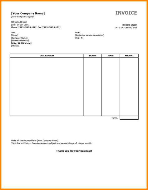 invoice form template 7 free downloadable invoice templates thistulsa