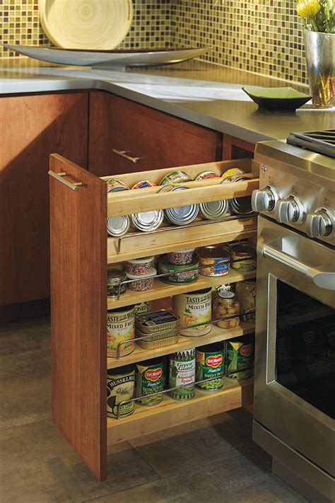 spice drawers kitchen cabinets our spice pull out cabinet allows cans bottles spices