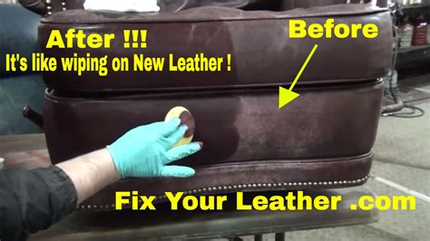 leather sofa colour repair fix worn and faded leather the easy way youtube