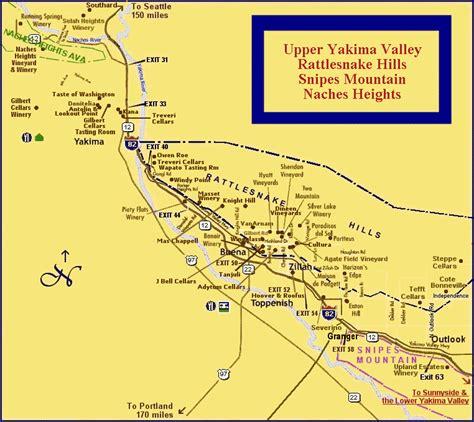 seattle to yakima map yakima map