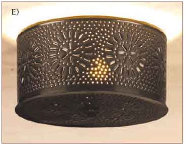pierced tin ceiling light period lighting historic
