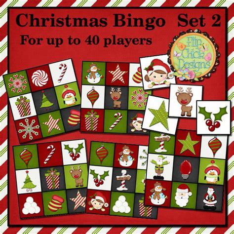 printable christmas bingo game set 2