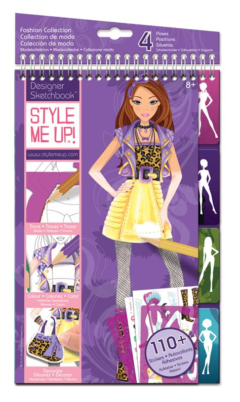 Promo Gambart Fashion Sketchbook style me up design sketchbook kit fashion