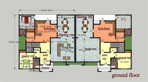 2 bedroom ground floor plan 5 bedroom semi detached duplex in redwood ii life c