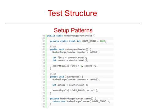 pattern unit test clean unit test patterns