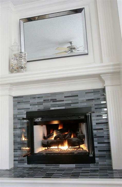 modern tiled fireplace tiled fireplaces