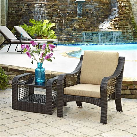 2 accent chairs and table set home styles lanai 2 accent chair and end