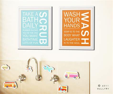 wall art printable set bathroom sayings wash brush floss bathroom art prints bathroom rules kids bathroom wall