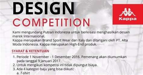 design competition nu design competition kaos kappa indonesia