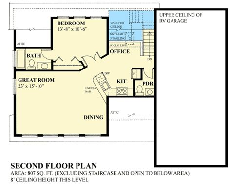 carriage rv floor plans rv garage plan with shed dormer 9832sw 2nd floor