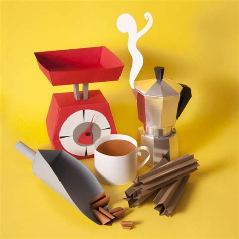 Food Papercraft - lovely paper craft sculptures of food and groceries that