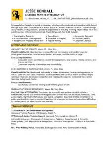 Investigator Resume by This Free Sle Was Provided By Aspirationsresume