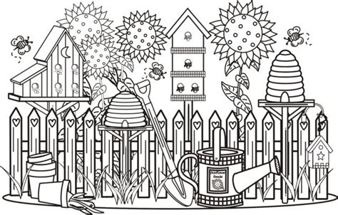 coloring pages of garden scene pleasant view of some attractive gardens 17 gardens