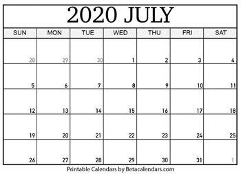 blank july  calendar printable  mateo pedersen tpt