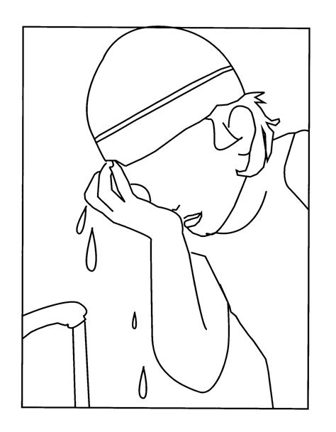 washing hair coloring pages kids washing face free coloring pages