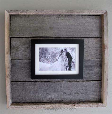 Simple Handmade Photo Frames - easy pallet wood frame my repurposed life