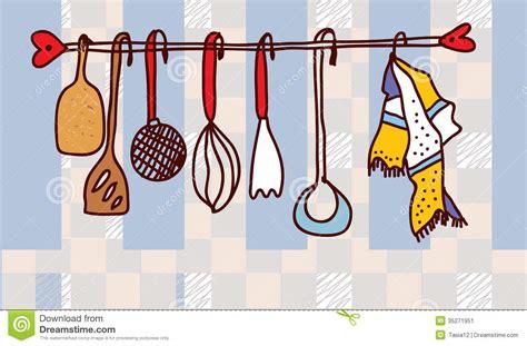 cuisine drole 201 tag 232 re d ustensiles de cuisine dr 244 le image stock image