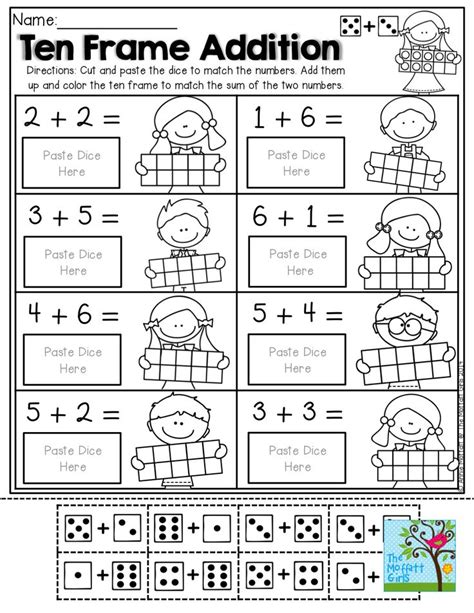 Ten Frame Worksheet by 254 Best Maths Addition Images On