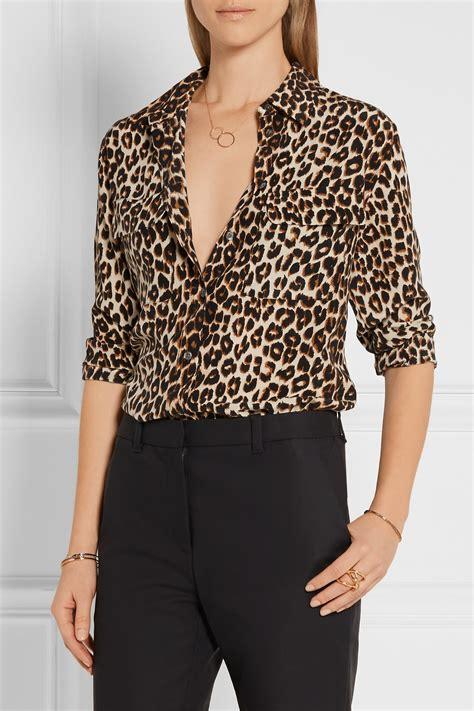 Animal Print Shirt lyst equipment signature leopard print washed silk shirt