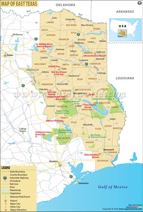 map of eastern texas map of east texas east texas map
