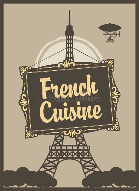cucina francese cucina francese illustrazione vettoriale illustrazione di
