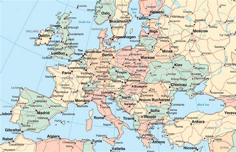 map for europe map of europe with cities for cities besttabletfor me