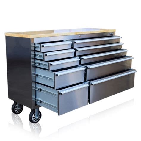 tool box bench tool chest box bench stainless steel 55 quot roller cabinet