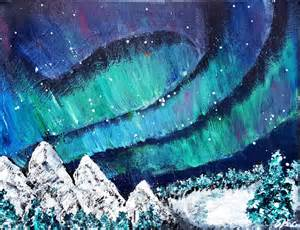Aurora borealis acrylic painting josipa s art