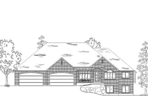 1 1 2 story traditional house plan heinman traditional style house plans 2756 square foot home 1