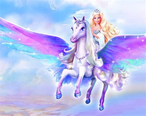 imagenes de unicornios volando barbie volando en unicornio im 225 genes y fotos