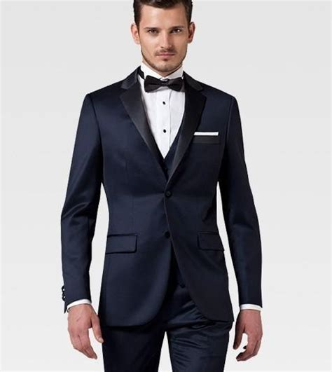 aliexpress com buy slim fit two buttons navy groom