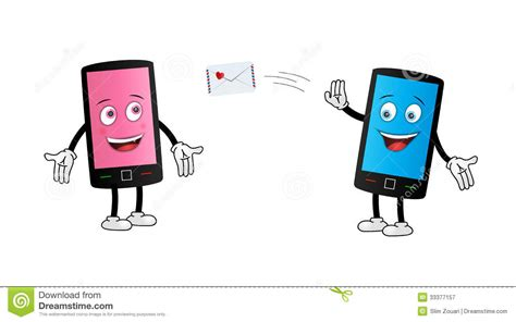 Home Design App Ipad Pro by Cute Smartphone Couple Texting Royalty Free Stock
