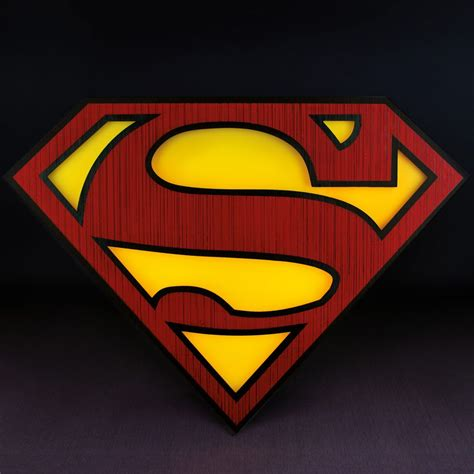 Superman It by Superman Logo Light Superman Emblem Wall Light Menkind