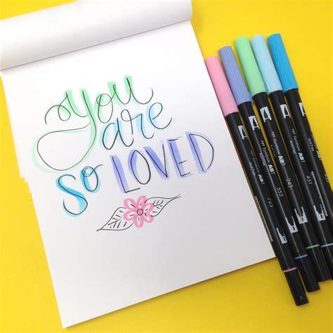 lettering tips   pastel dual brush pens tombow