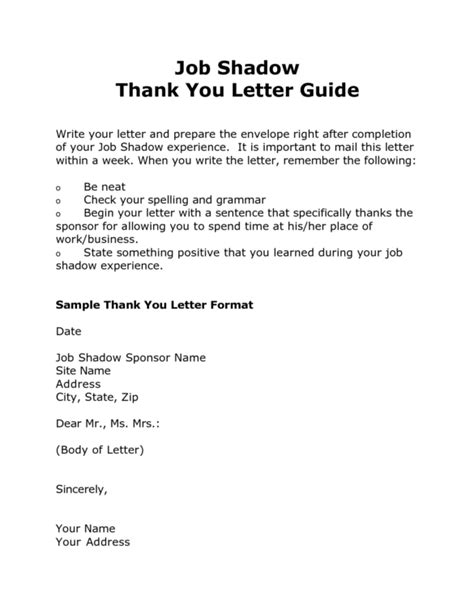 sle shadow thank you letter